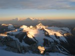 View during summit day. Just another snow capped Andean peak littered in the backgroud