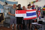 Thai and Singaporean flags added to the select collection of nations that have been present in Fiambala
